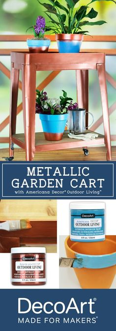 Give terra cotta pots, outdoor decor and more a quick update with Americana Decor® Outdoor Living™ paint by DecoArt!