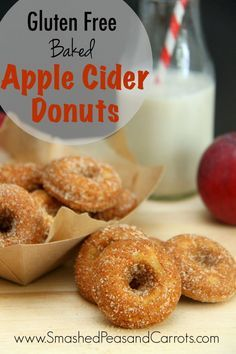 Gluten Free Baked Apple Cider Donuts! These are so good you will want ...