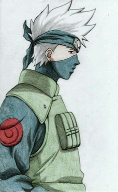 Kakashi from Naruto. Was cleaning up my gallery a bit the other day and realised I have only ever drawn Kakashi once. Kakashi Drawing, Naruto Sketch Drawing, Naruto Drawings, Anime Drawings Sketches, Anime Sketch, Cool Drawings, Naruto Kakashi, Naruto Art, Wallpaper Naruto Shippuden