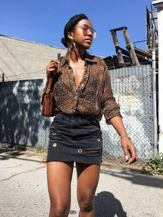 Shop the Look from Marquise C. Brown on ShopStyleDon't call it a comeback, or maybe you should. New post on Honeyin. Get The Look, Comebacks, Denim Skirt, Honey, Mini Skirts, Ootd, Brown, My Style, Heels