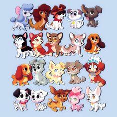 Fox Leap!さんはInstagramを利用しています:「Disney doggos!! 🐾 (plus balto and adgth!! 💖) . . . . #illustrationartists #artistsoninstagram #kawaiiartist #illustration #characterdesign…」 Cute Disney Pictures, Images Disney, Disney Dogs, Baby Disney, Cute Animal Drawings, Cute Drawings, Disney And Dreamworks, Disney Pixar, Pinturas Disney