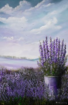 Lavendar Painting, Lavender Paint, Lavender Flowers, Lavander, Watercolor Flowers, Watercolor Paintings, Lavender Aesthetic, Lavender Fields, Art Themes