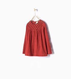 Image 1 of CROCHET LARGE BLOUSE from Zara