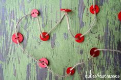 button and twine garland