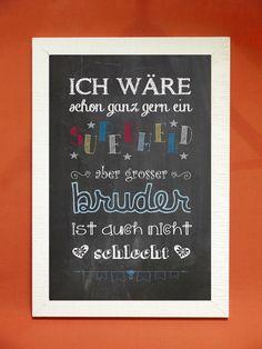 """Schön gestalteter Kunstdruck, ein toller Blickfang für´s Kinderzimmer! Der Hintergrund ist einer Tafel nachempfunden, die """"Kreideschlieren"""" darauf sind daher gewollt. Sie erhalten den Spruch..."""