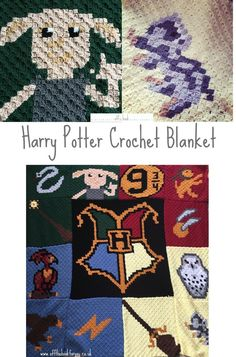 Time to finally share the mission that has been the Harry Potter blanket. It's been the biggest thing I have tackled, taken hours and hours, and is far bigger than I expected…R… Baby Harry Potter, Harry Potter Crochet, Harry Potter Quilt, Pixel Crochet Blanket, C2c Crochet, Afghan Crochet Patterns, Free Crochet, Crochet Blankets, Chrochet