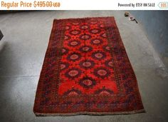 40% OFF SALE Vintage Sarouq Carpet by TEKKARUG on Etsy