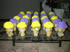 Rapunzel cupcakes!