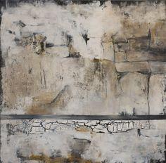 Original Acrylbild auf Leinwand - abstrakte, moderne, zeitgenössische Kunst, weiss-schwarz-grau-braun, 100 cm x 100 cm von GalerieArtMesch auf Etsy