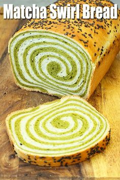 This matcha swirl bread is so soft and fluffy. The beautiful swirl gives it a wo… This matcha swirl bread is so soft and fluffy. The beautiful swirl gives it a wonderful touch. Making this swirl bread is easier than it looks, trust me. Bread Machine Recipes, Bread Recipes, Baking Recipes, Dessert Recipes, Amish Recipes, Dutch Recipes, Matcha Bread Recipe, How To Make Matcha, Pan Relleno