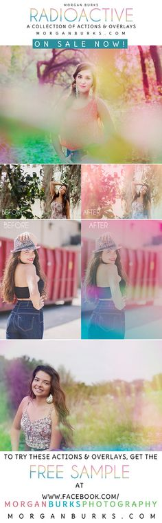 Transform your images with color and light leaks! Freebies on facebook! Visit www.facebook.com/MorganBurksPhotography