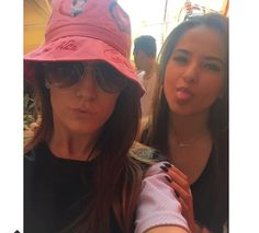 Becky with a fan. Austin creeping in the back