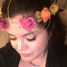 flower head chain It's almost spring/summer and festival time! Brand new - gold chain Accessories