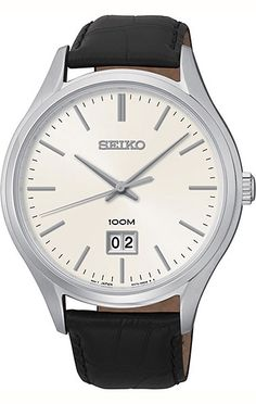 Shop a great selection of Seiko Quartz Sapphire Silver Tone Dial Leather Band Mens Watch Find new offer and Similar products for Seiko Quartz Sapphire Silver Tone Dial Leather Band Mens Watch Cheap Watches For Men, Vintage Watches For Men, Festina, Seiko Men, Seiko Watches, Wrist Watches, Stainless Steel Case, Fashion Watches, Fashion Men