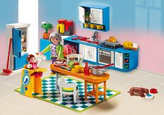 Playmobil 5329 Grand Mansion Kitchen - New, Sealed Play Mobile, Playmobil Dollhouse, Playmobil Sets, Grand Kitchen, Toy Kitchen, Toys For Girls, Kids Toys, Mansion Kitchen, Cooking