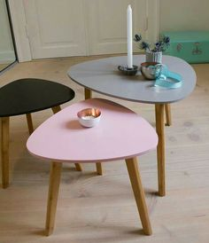 Very nice small tables from 'Sostrene Grenes'  http://www.grenes.dk/ (Very nice price too :-) )