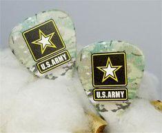 U.S. Army Flag Guitar Pick Cufflinks Us Army Flag, Military Jewelry, Guitar Pick Jewelry, Guitar Picks, Stocking Stuffers, Cufflinks, Take That, Etsy Shop, Guitars