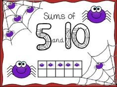 Spider Sums of 5 and 10 {FREEBIE}