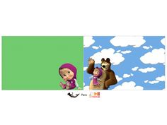 Oh My Fiesta! in english: Masha and the Bear: Free Printable Candy Bar Labels.