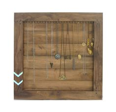 Jewelry Storage // Necklace Wall Organizer Display // Wall Rack // Handmade Driftwood Furniture // Eco-Friendly Home Decor // Reclaimed Wood. $145.00, via Etsy.