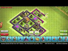 ▶ BEST Town Hall Level 7 (TH7) Defense Strategy - Clan Wars/Hybrid/Trophy Base (Clash of Clans) Part 1 - YouTube