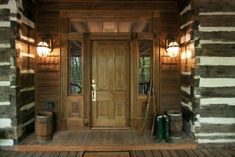 Beautiful cabin entry.
