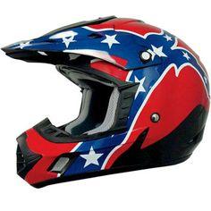 2014 AFX Rebel MX ATV Dirt Bike Off Road Protection Motocross Helmets my dad needs it for racing Dirt Bike Helmets, Dirt Bike Gear, Motocross Helmets, Riding Helmets, Dirt Biking, Rebel Flag Tattoos, Flag Bikini, Road Bike Women, Dirt Bikes