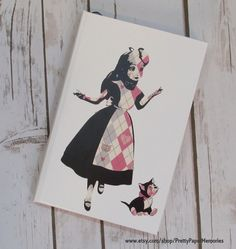 Alice in Wonderland personalized hard cover by PrettyPaperMemories