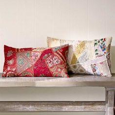 Color Splash Patchwork Pillow Collection