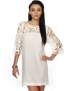 Motown White Dress from Lulu's