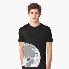 Aesthetic moon inspired illustration on a t-shirt, perfect for astronomers, Star Wars enthusiasts and nature lovers everywhere! Full Moon, Vignettes, Chiffon Tops, Star Wars, Lovers, Inspired, Illustration, Nature, Mens Tops