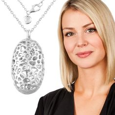 #DESIGNERSPOTLIGHT - Not only is Rachel Galley stunning but her jewellery is also stunning! Shop this gorgeous 'Rhodium Plated Sterling Silver Pebble Necklace' at www.tjc.co.uk