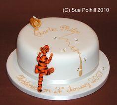 Tigger on birthday cake from Sue Polhill Cakes of Cambridgeshire