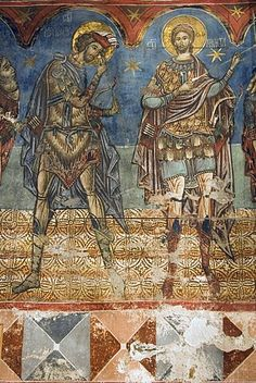 frescos interiores, Iglesia de la Asunción y San Jorge, patrimonio de la humanidad, Humor, Bucovina del Sur, Moldavia, Rumania, Europa