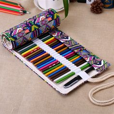 36/48/72 School Pencil Case Escolar Estuche Box Stationery Cute Estojo Portable Canvas Pen Roll Up Bag Curtain Pencils beauty-in Pencil Cases from Office & School Supplies on Aliexpress.com | Alibaba Group