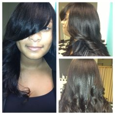 full sew in no hair left out- protective style