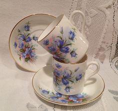 Vintage inglés Fine Bone China taza de té y plato - set de 2 - demi - medida - ROYAL GRAFTON