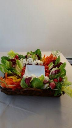 Vegetables platter Veggie Platters, Fruit Trays, Cabbage, Meals, Vegetables, Food, Veggie Dishes, Fruit Platters, Meal