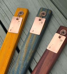 Ordinaire Copper And Wood Plant Markers From Houzz. Copper Plant Stakes The  Featherweights By Dillybags