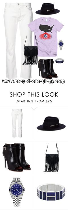 """rooted collections - OOTD #53"" by rootedcollections on Polyvore featuring Nili Lotan, Larose, Givenchy, WithChic, Rolex, Chaps, ootd and Tennessee"