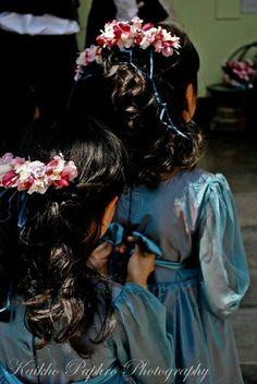 #flowergirls #hairpiece #children #bluedress