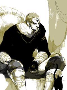 Ganondorf and a Cat: because all good villains need a feline companion :3