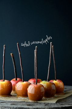 caramel apples, salted
