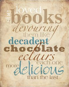#Books - each one more delicious than the last