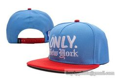 Only NY 2T Logo Snapback Light Blue Red|only US$8.90,please follow me to pick up couopons.