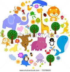 Animal Illustration vectorielle stock : 73378600 : Shutterstock