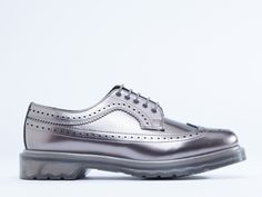 Dr. Martens 3989 Mens in Pewter Spectra Patent at Solestruck.com