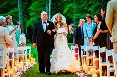 candlelit ceremony | Chrisman Studios #wedding