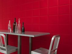 Synthetic material wall tiles SMOOTH by Élitis