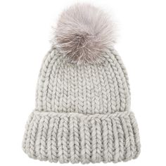 Eugenia Kim Rain Beanie with Fox Fur Pom ($163) ❤ liked on Polyvore featuring accessories, hats, beanies, pom beanie, beanie cap, pom pom beanie hat, beanie cap hat and eugenia kim